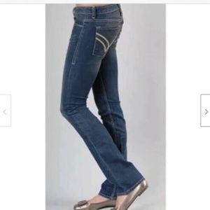 William Rast Womens 27 Sadie Straight Leg Jeans Da